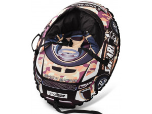 Small Rider Snow Cars 3 Сафари - надувные санки-тюбинг с сиденьем и ремнями, камуфляж