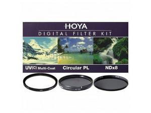 Набор из 3 фильтров Hoya (UV(C) HMC Multi, PL-CIR, NDX8) 82mm