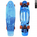 "Y-Scoo Big Fishskateboard Metallic 27"" - скейтборд с сумкой Blue-brown"