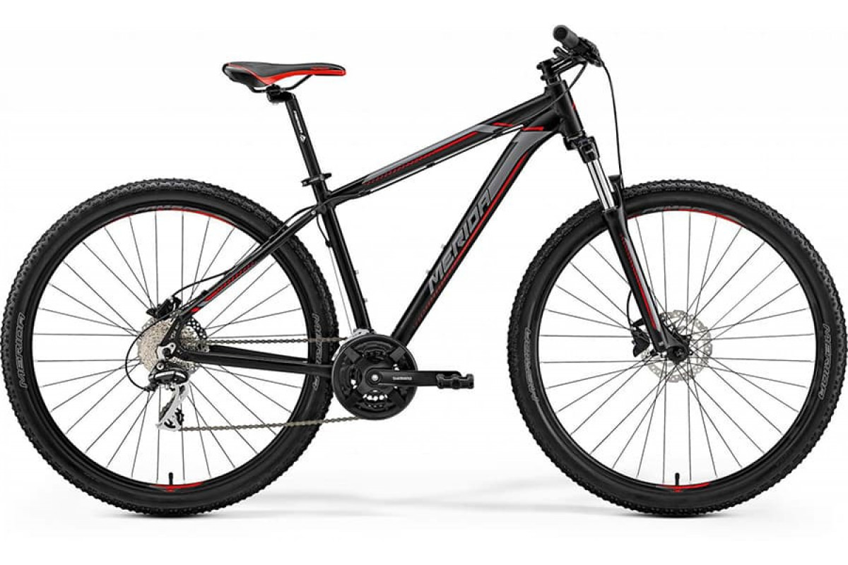 "Велосипед Merida Big Nine 20-D Matt Black (Red/Silver) 2019 M(17"")(93340)"