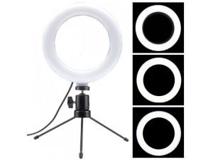 Кольцевая LED лампа 15.2 см со штативом 200 см