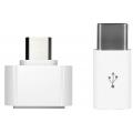 Переходник Micro-USB на USB 3.1 Type-C + Micro-USB на USB 2.0, белый