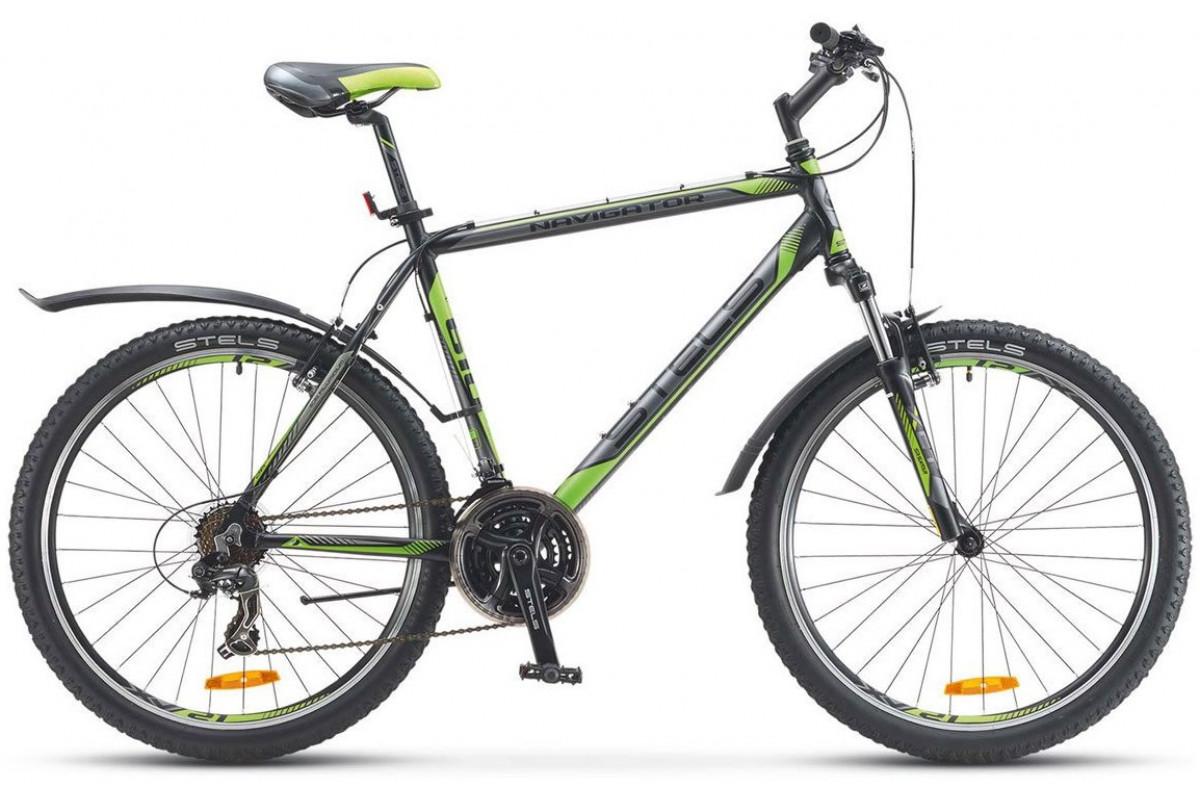 "Велосипед Stels Navigator 610 V V030 Черный/Салатовый 27,5Ø (LU087836) 19"""