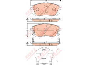 Колодки тормозные передние TRW  GDB3461 для HYUNDAI ix35/KIA Sportage III /Type Sumotomo