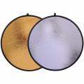 Рефлектор 2в1 Prolike RF-01 золотистый/серебристый 110см