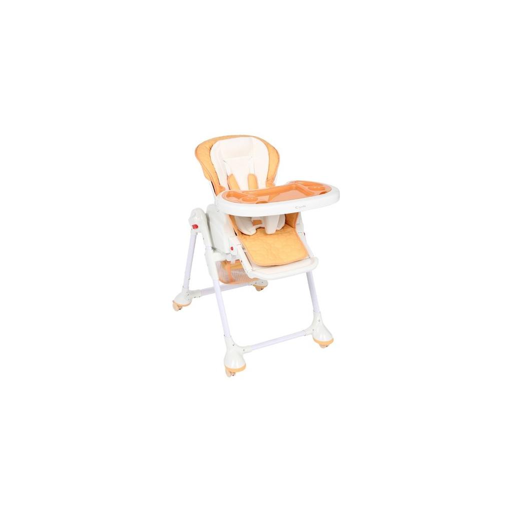 Capella S-208 - стульчик для кормления с функцией качалки (оранжевый)