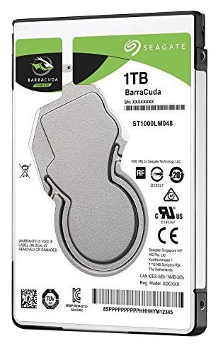 "Жесткий диск HDD 1Tb Seagate Barracuda ST1000LM048 2.5"" SATA 6Gb/s 128Mb 5400rpm"