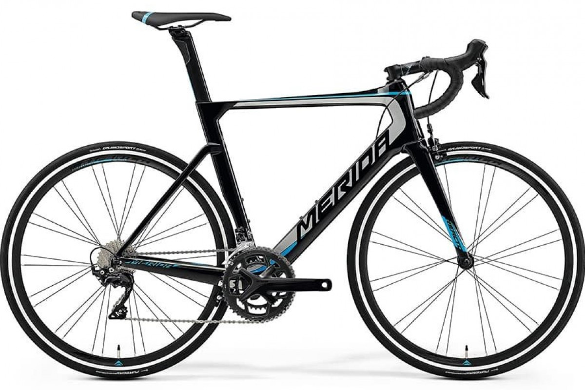 Велосипед Merida REACTO 4000 MetallicBlack/Silver/Blue 2019 ML(54cm)(86864)