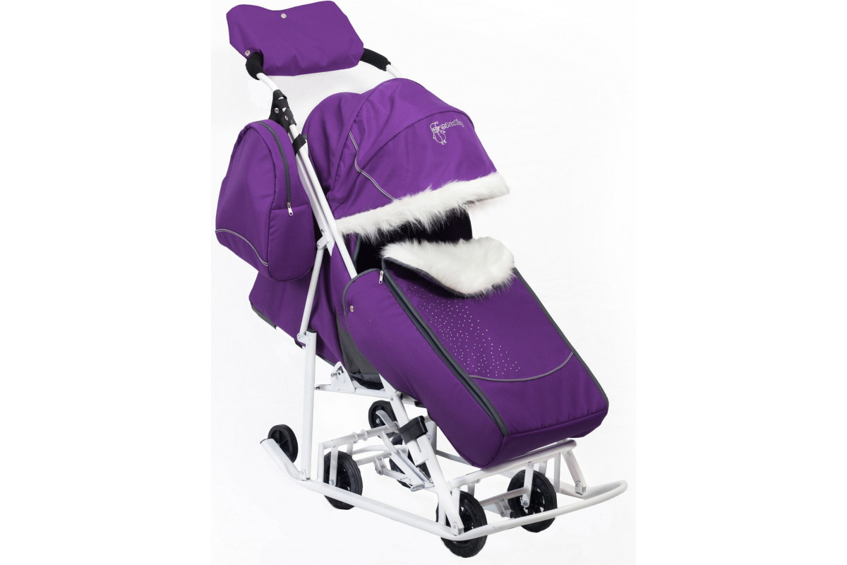 Kristy PIKATE Снеговик - санки-коляска (фиолетовый)