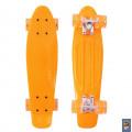 "RT Classic 22"" YQHJ-11 - детский скейтборд со светящимися колесами оранжевый"
