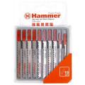 Набор пилок для лобзика Hammer Flex 204-904 JG WD-PL набор No4  дерево\пластик 7 видов, 10шт