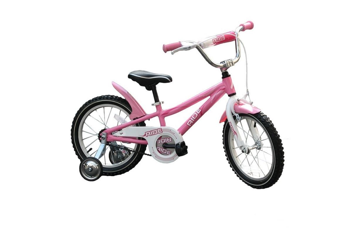 """Ride 16 - детский велосипед 16"""" светло-розовый"""