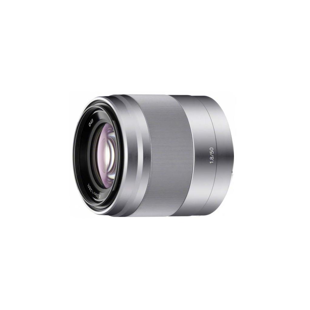 Объектив Sony E 50mm f/1.8 OSS SEL50F18 серебро