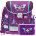 Набор: ранец Belmil Classy Butterfly, мешок для обуви и пенал без наполнения