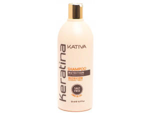 Укрепляющий шампунь Kativa KERATINA с кератином для всех типов волос 50 мл