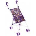 Melobo Коляска-трость для кукол арт.9302W с поворотными колесами фиолетовая с мишками