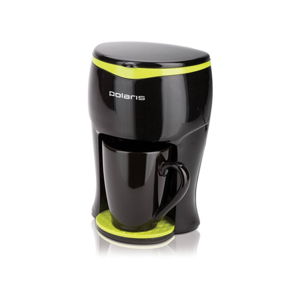 Кофеварка капельная Polaris PCM0109 350Вт черный/салатовый
