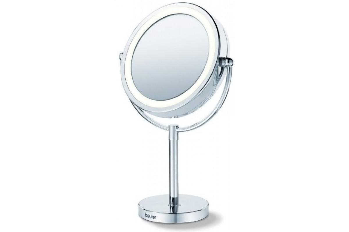 Зеркало двустороннее Beurer BS69 для лица d=17см 1.9Вт серебристый