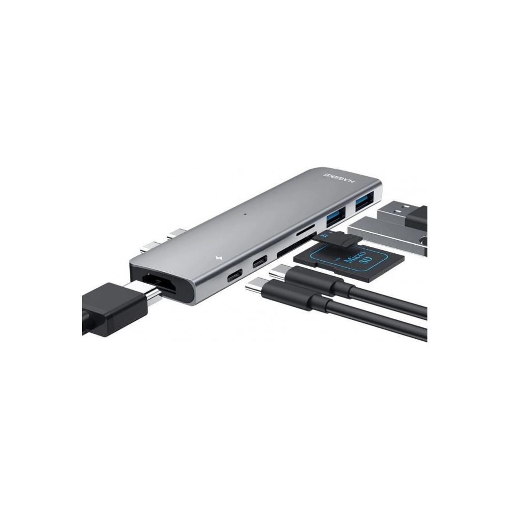 Док-станция Xiaomi Hagibis Type-C Docking Station серебряная