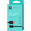 Дата-кабель BoraSCO USB - Type C, 2А 1м, черный