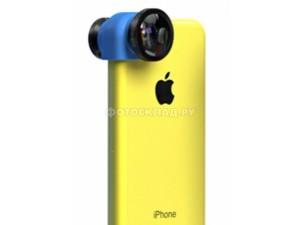 Объектив для iPhone 5c Olloclip 3-IN-1 Lens: Black/ Blue