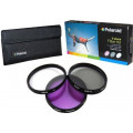 Polaroid 3 Piece Filter Kit 55mm (UV, CPL, FLD)
