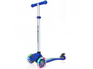 Y-Scoo Globber Primo Fantasy - детский самокат со светящимися колесами Racing Navy синий
