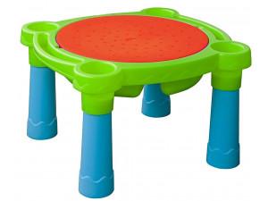 Marian Plast Стол- Песок-Вода детский игровой (голубой, красный. Салатовый) 375