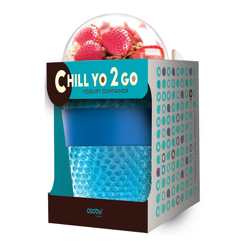 Контейнер Asobu Chill yo 2 go (0,38 литра) серый*