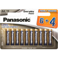 Батарейки Panasonic LR03REE/10B4F AAA щелочные Everyday Power promo pack в блистере 10шт