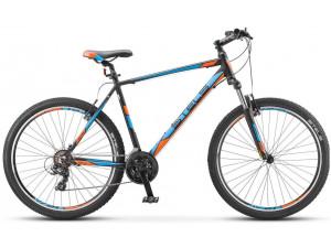 """Велосипед Stels Navigator 610 V V020 Черный/Голубой/Оранжевый 27,5Ø (LU085573) 19"""""""