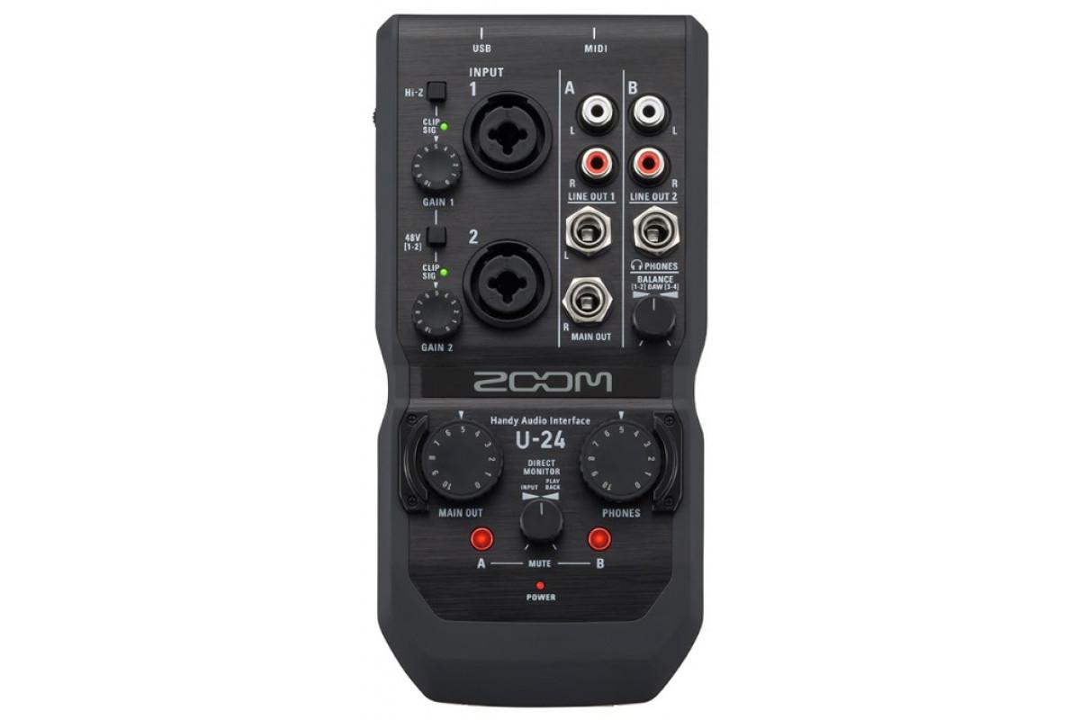 Аудио интерфейс Zoom U-24