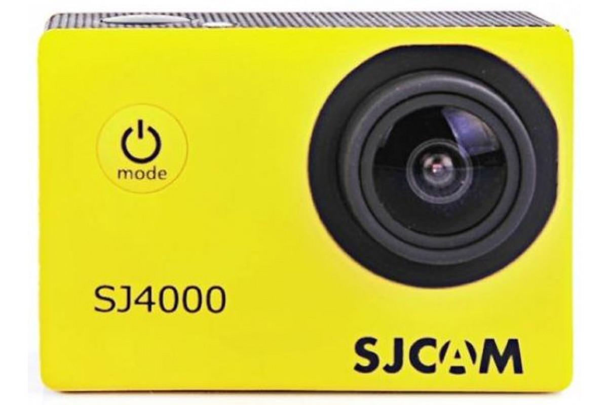 Экшн камера SJCAM SJ4000, желтая