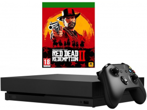 Игровая приставка Xbox One X 1Тб (CYV-00289) + Red Dead Redemption 2