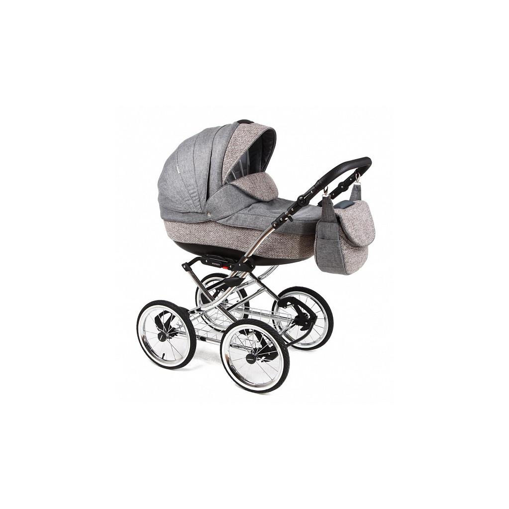 Adamex Katrina - коляска 2 в 1 Deluxe серо-белая