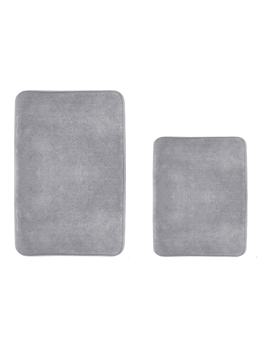 Набор ковриков для ванной и туалета с эффектом памяти HomeOne 51х81, 43х61, темно-серый