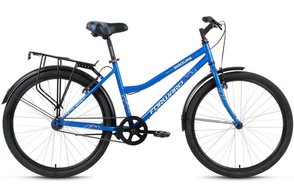 "Велосипед 26"" Forward Barcelona 1.0 17-18 г 17' Темно-синий"