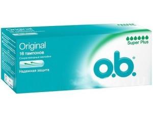 Тампоны o.b. Original супер плюс 16 шт.