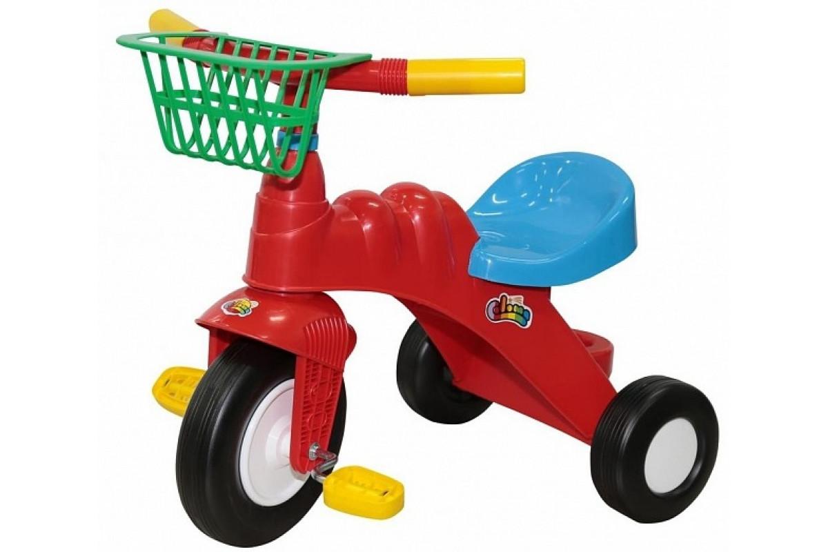Coloma Y Pastor Велосипед 3-х колёсный Малыш с корзинкой (Колеса пластмассовые)