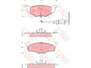 Колодки тормозные передние TRW  GDB1586 для SKODA FABIA/VOLKSWAGEN POLO 99-