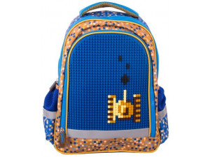 Gulliver Рюкзак школьный с пикси-дотами (синий)