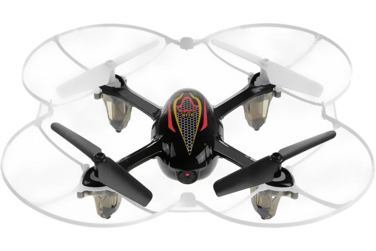 Квадрокоптер Syma X11C, черный уценка 6078