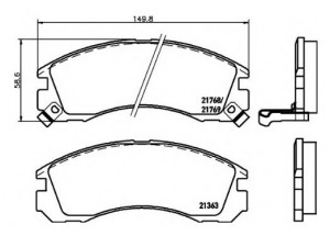 Колодки тормозные передние TEXTAR 2136301 для MITSUBISHI Outlander/Galant/Pajero+PSA C-Crosser