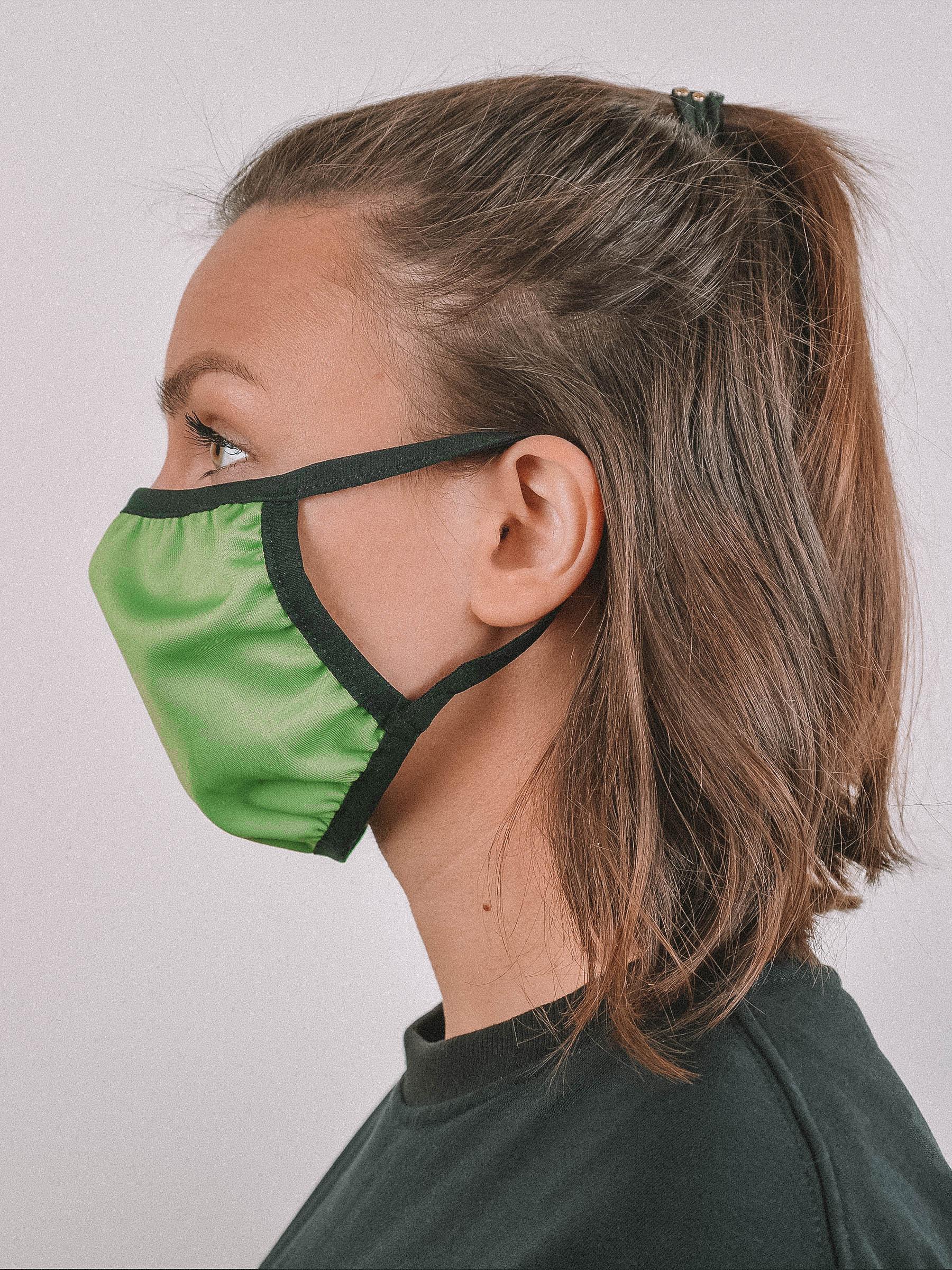 Маска защитная тканевая многоразовая полиэфирная Axper, зеленый