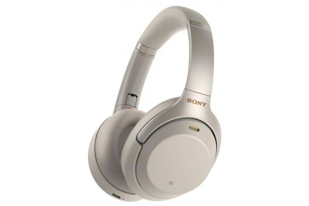 Наушники Sony WH-1000XM3, серебристый