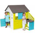 Smoby Игровой домик с кухней, синий
