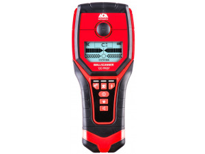Детектор проводки ADA Wall Scanner 120 PROF  глубина мет.120мм дерево 38мм напряжение 50мм