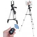 Штатив с подставкой для камеры и держателем для смартфона, с bluetooth пультом