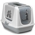 Био-туалет Moderna Cats in Love 50x39x37h см с совком, серый