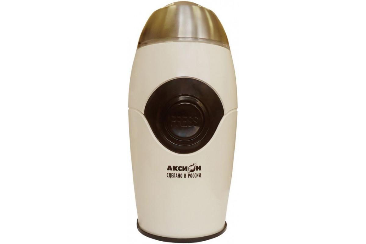 Кофемолка Аксион КМ-22 150Вт сист.помол.:ротац.нож вместим.:50гр бежевый
